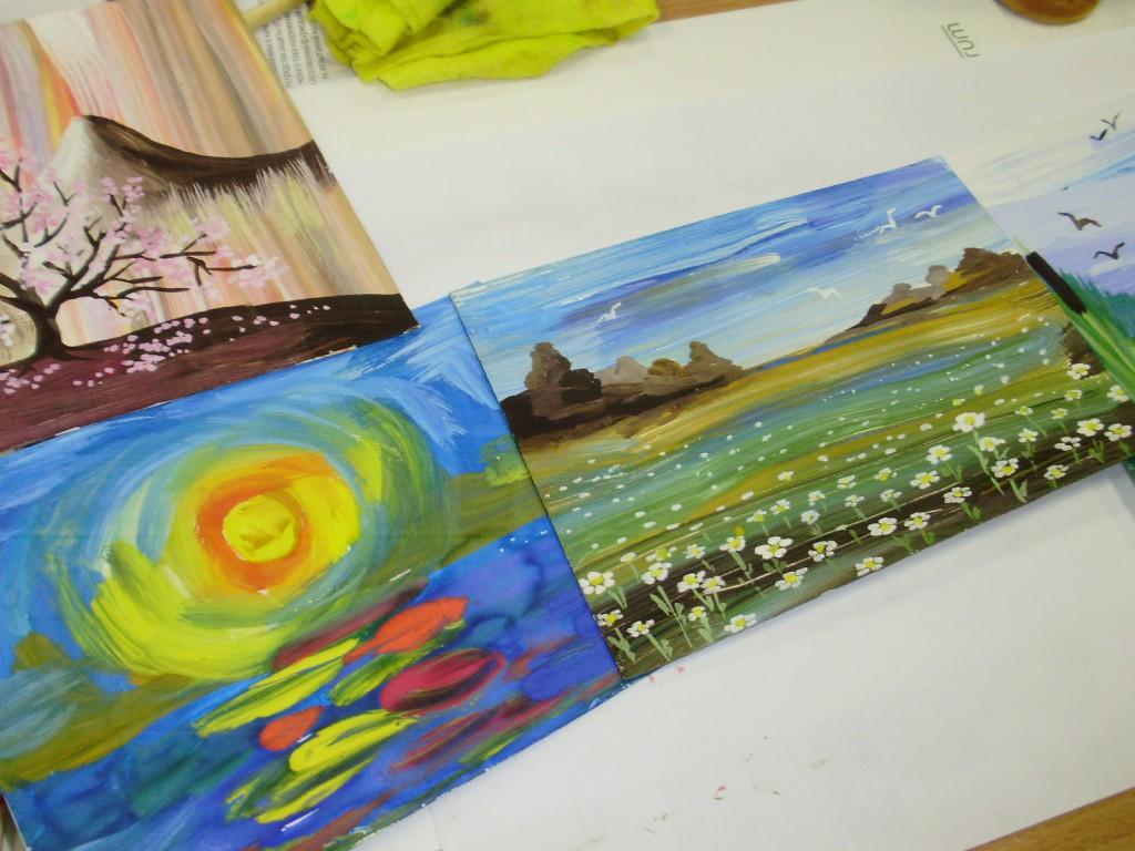 Как сделать из фото рисунок гуашью